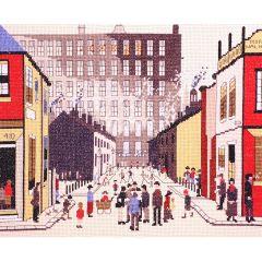 LS Lowry Style: Street Scene
