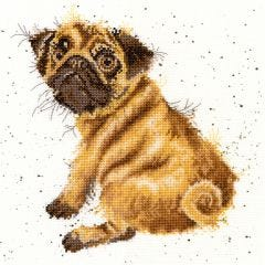 Wrendale Counted Cross Stitch: Pug
