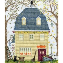 Counted Cross Stitch Kit: New England Homes - Fall