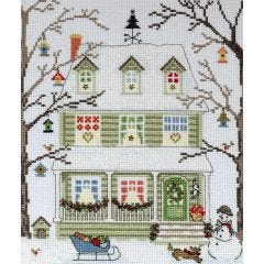 Counted Cross Stitch Kit: New England Homes - Winter