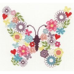 Counted Cross Stitch Kit: Butterfly Bouquet