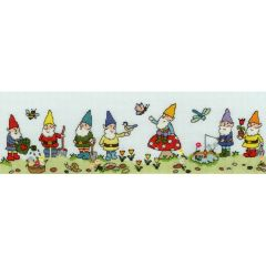 June Armstrong: Row of Gnomes Counted Cross Stitch Kit