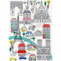 Jessica Hogarth Counted Cross Stitch Kit Love Paris Picture Kit