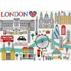 Jessica Hogarth Counted Cross Stitch Kit Love London Picture Kit