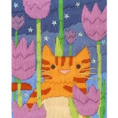 Long Stitch Cats -  Tiger Picture Kit