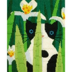 Long Stitch Cats -  Felix Picture Kit