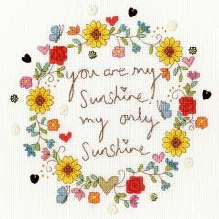 Counted Cross Stitch Love Sunshine Picture Kit