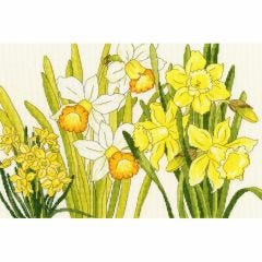 Counted Cross Stitch Japanese Woodblock: Daffodils Picture Kit