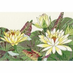 Counted Cross Stitch Japanese Woodblock: Waterlily Picture Kit