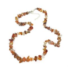 Red Agate Chip 18 Inch Necklace