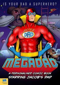 Mega Dad Personalised Comic Book