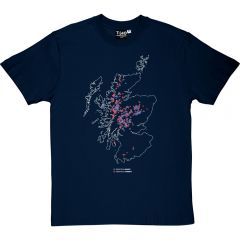 Munros and Corbetts Map Men's T-shirt