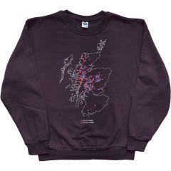 Munros and Corbetts Map Sweatshirt