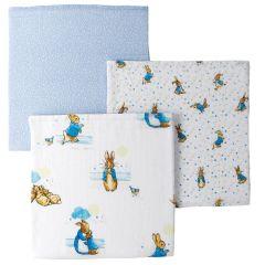 Peter Rabbit Muslin Squares (set of 3)
