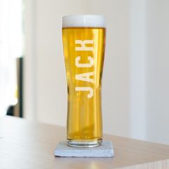 Personalised Name Beer Glass