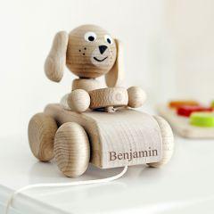 Personalised Wooden Nodding Dog