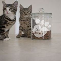 Paws Personalised Cat Treat Jar