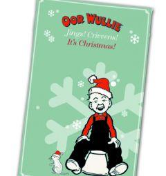 Oor Wullie Christmas Tea Towel