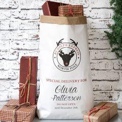 Paper Christmas Sack