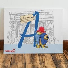 Paddington Bear Initial Canvas