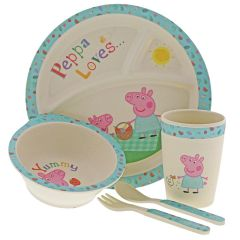 Peppa Pig Bamboo Dinner Set