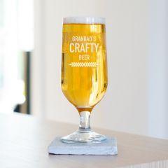Personalised Crafty Beer Glass