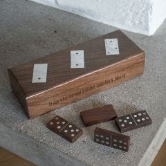 Personalised Wooden Domino Set