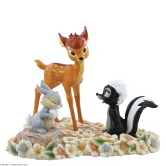 Pretty Flower Bambi, Thumper and Flower Figurine