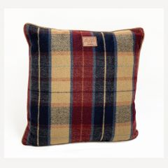 Red Tweed Filled Cushion