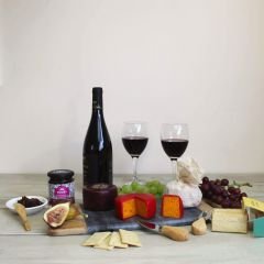 Red Wine and Cheese Gift Box