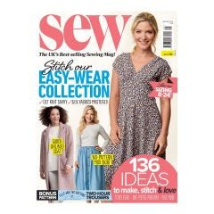 Sew Subscription (Red Floral Cotton & Pattern Size 14-22)