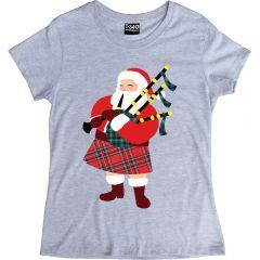 Santa Kilt Ladies T-Shirt