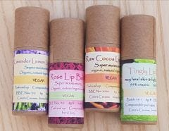 Set of 4 Vegan Lip Balms