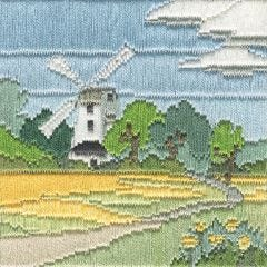 Silken Long Stitch: Windmill