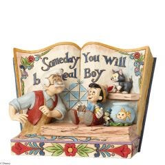 Someday You Will Be A Real Boy Storybook Pinocchio Figurine