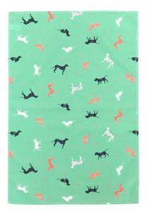 Spotty Dogs Cotton Tea Towel