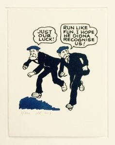 The Broons Make a Run Screenprint