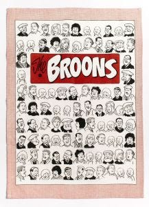 The Broons Portraits Tea Towel