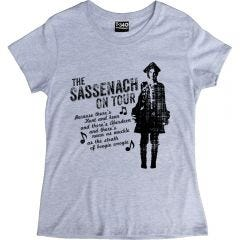 Outlander-style The Sassenach On Tour Ladies T-shirt