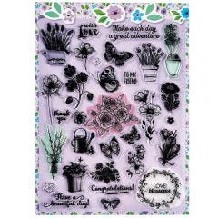 Purple Stamp It Sheet