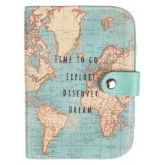 Vintage Map Time To Go Passport Holder
