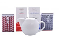 White Zaara Teabag and Tin Set
