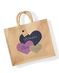 World's Best Mum Jute Bag