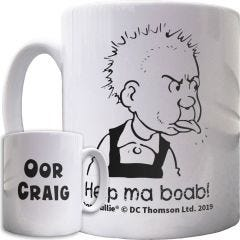 Oor Wullie Help Ma Boab Personalised Mug