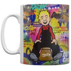 Oor Wullie Nothing But Trouble Mug