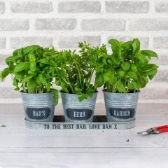 Personalised Zinc Herb Planter