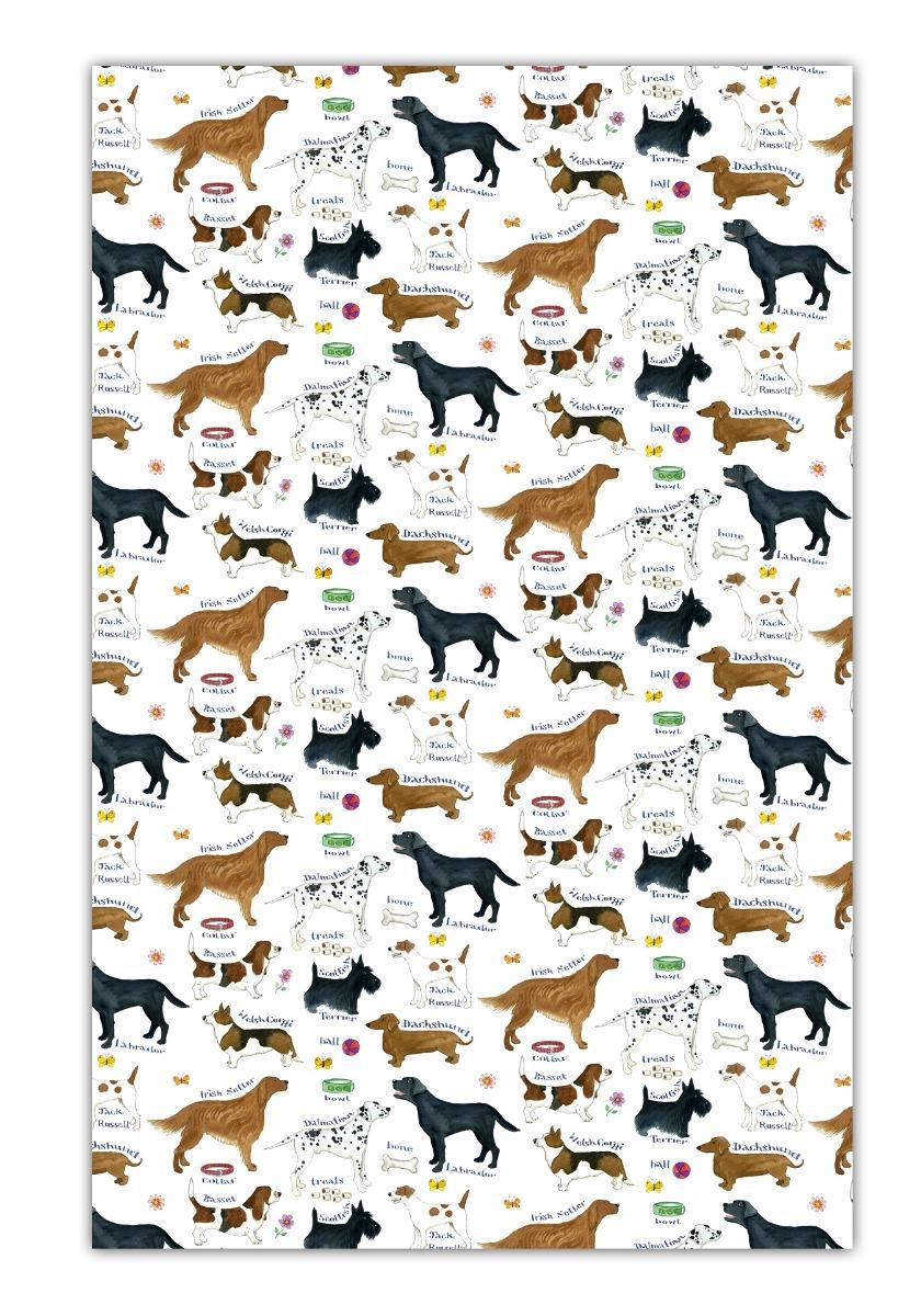 Image of Dog Breeds Cotton Tea Towel