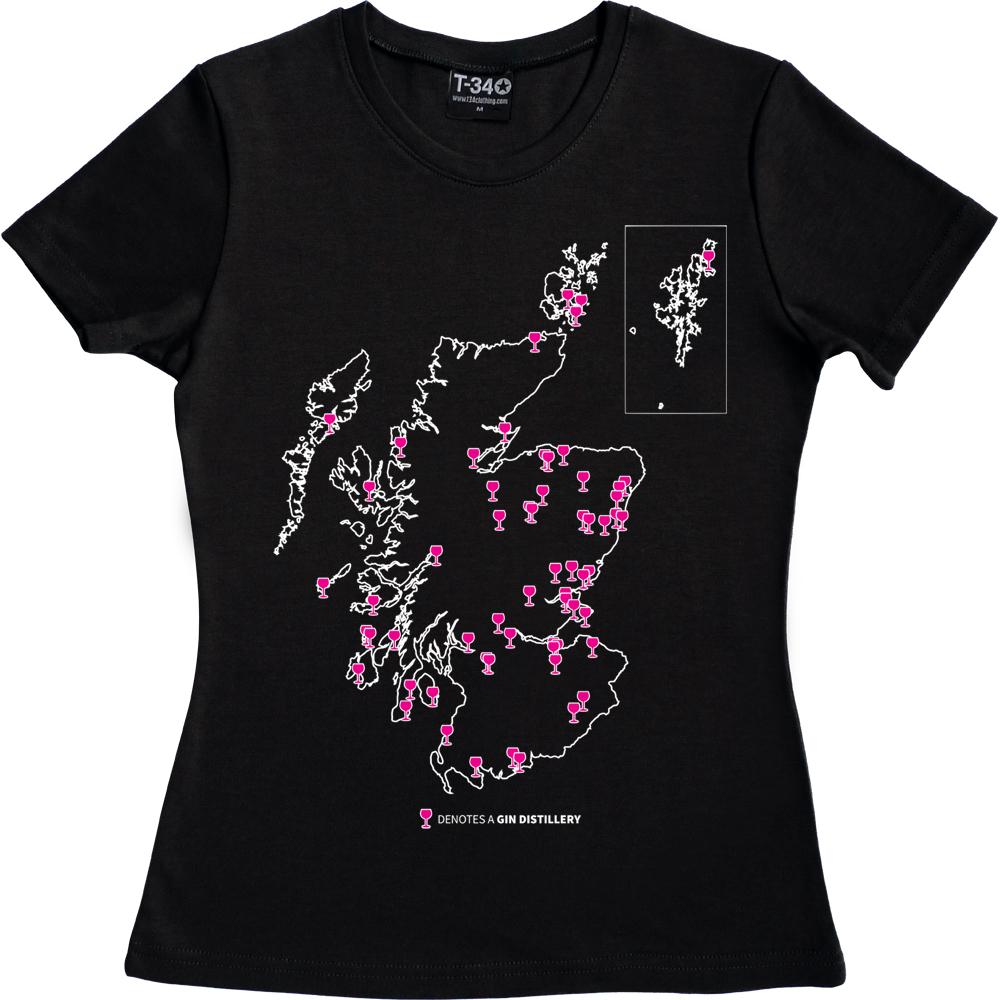 Gin Tour Ladies T-shirt