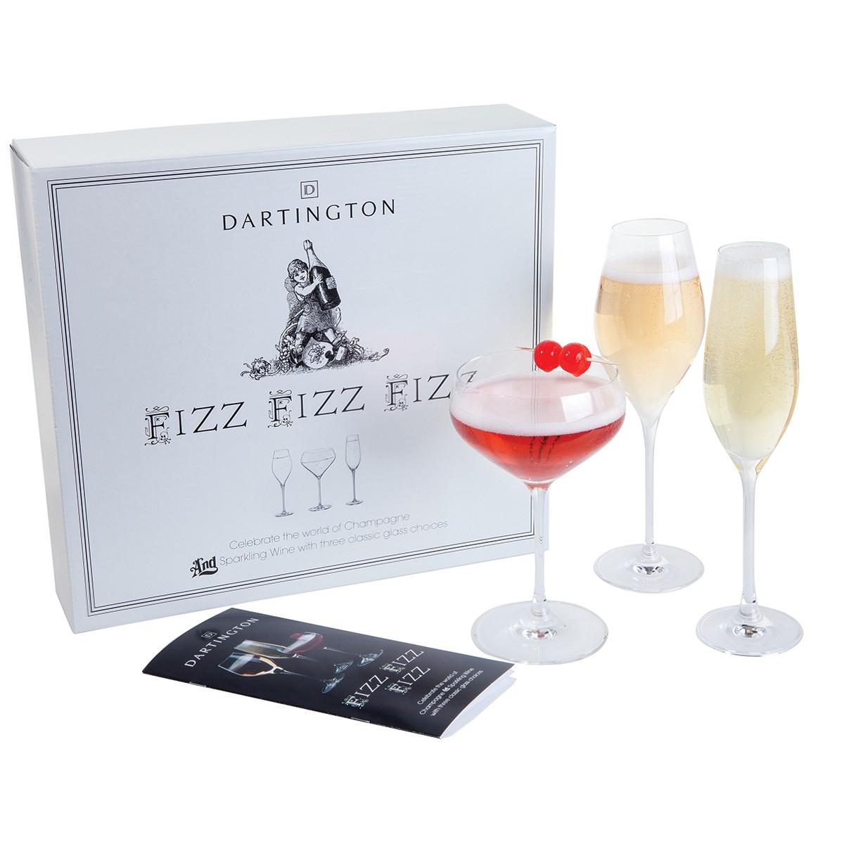 Dartington - Fizz, Fizz, Fizz Three Glass Gift Set