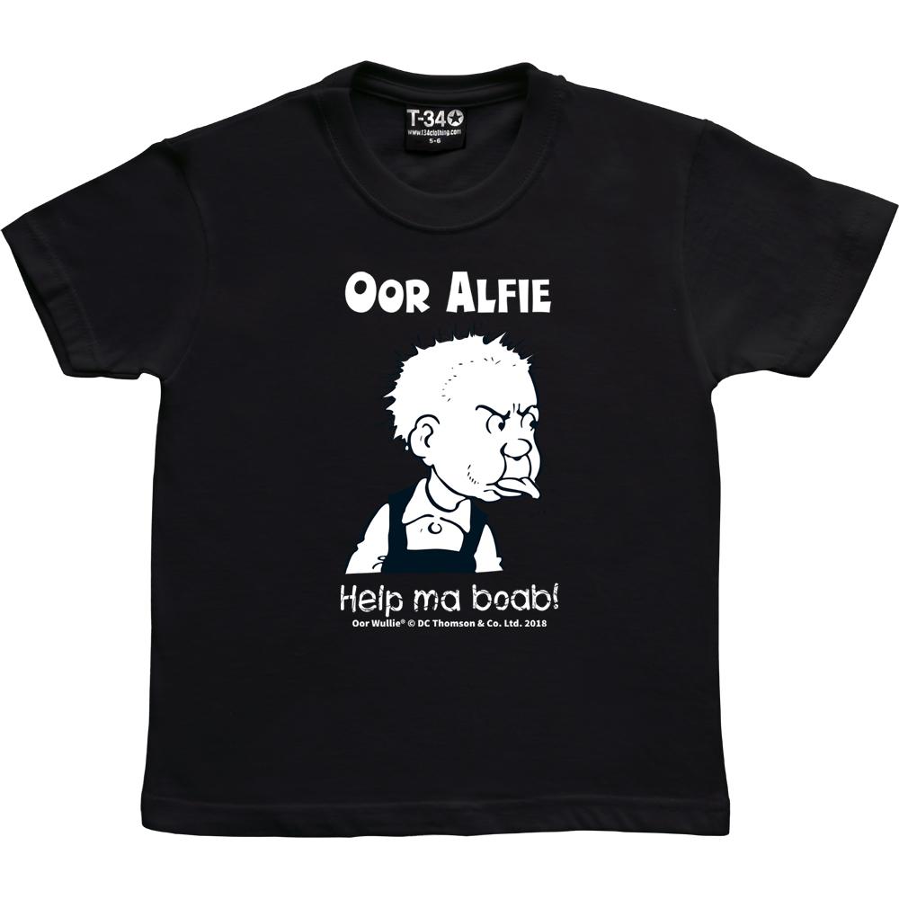 Oor Wullie Help Ma Boab Personalised Kids T-shirt